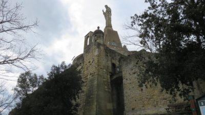 St Sébastien - Le Mont Urgull et la chapelle du Christ de la Mota