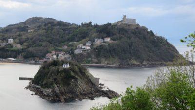 St Sébastien - le Mont Igueldo vu du Mont Urgull