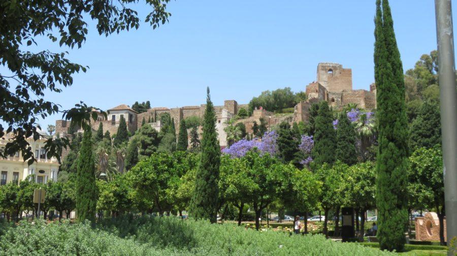 Vue sur l'Alcazaba de Malaga