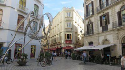 Les rues piétonnes du centre ville de Malaga