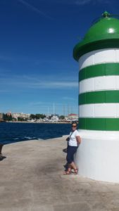Sur le port de Zadar